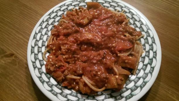 Eggplant Ragout - The Half-Crunchy Mama