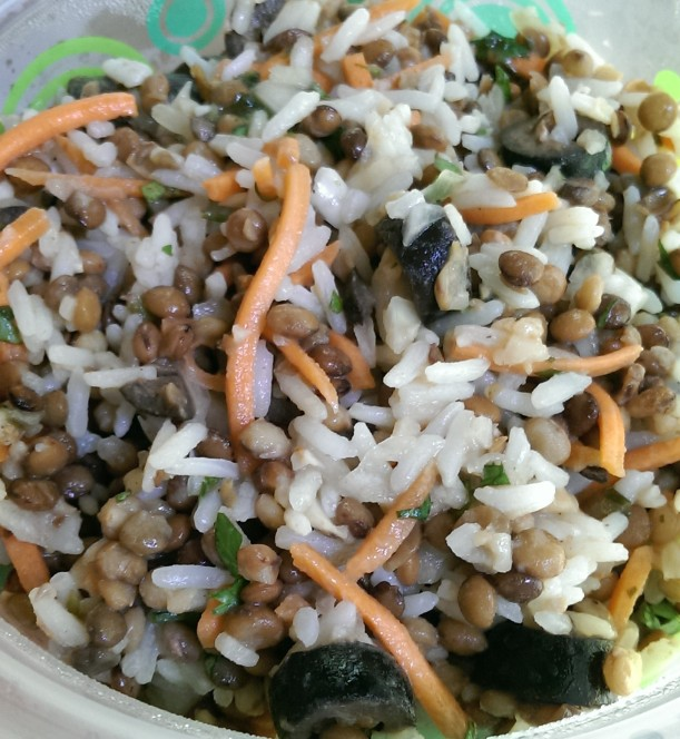 Lentil Rice Salad - The Half-Crunchy Mama