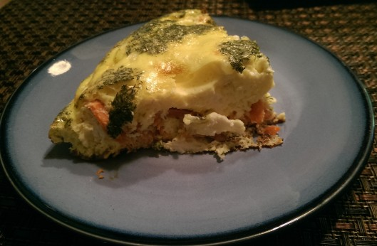 Smoked Salmon and Goat Cheese Frittata | The Half-Crunchy Mama