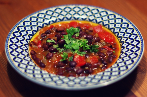 Southwest Black Bean Soup | The Half-Crunchy Mama